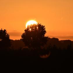 Ondergaande zon bij De Kleine Melm