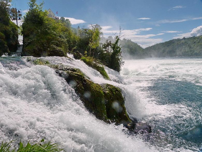 De Watervallen Van Schaffhausen.Waterval Van Schaffhausen Natuur Foto Van Oudmaijer Zoom Nl