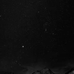 nacht in de Alpen