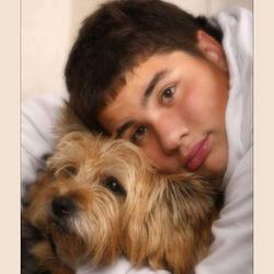 Mijn kleine/grote man met hond.
