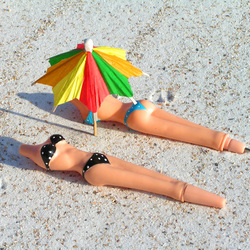 Zonnebadende balpennen.