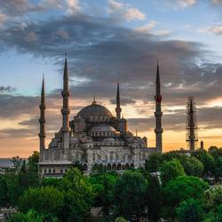 Blauwe Moskee bij zonsondergang 20 July 2016-1748