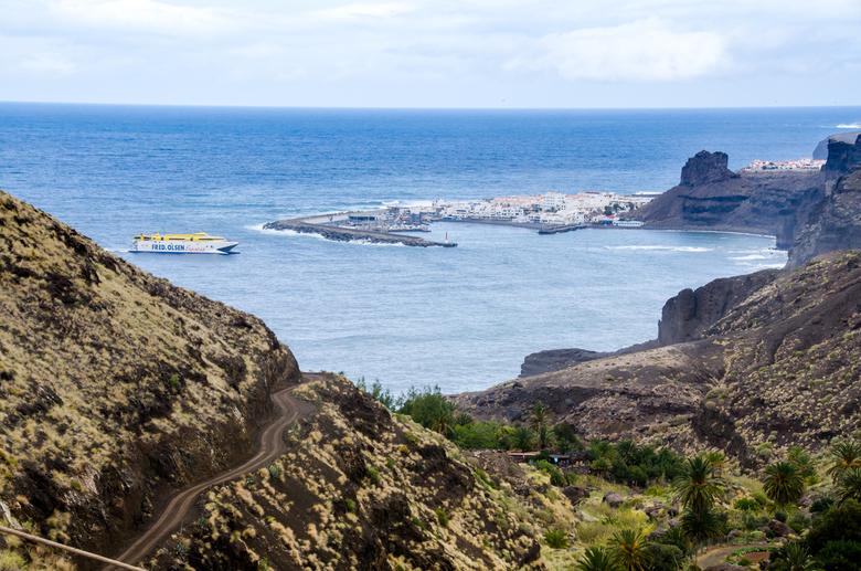 Gran Canaria 10 - de kust bij Agaete met veerboothaven - Het tweede van de vier Canarische eilanden die we in februari bezochten. Eerder plaatste ik f