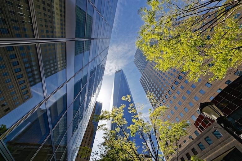 WTC NYC - Nieuwe WTC in New York in aanbouw.