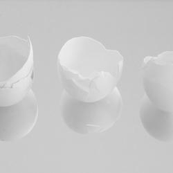 Reflecterende eierschalen