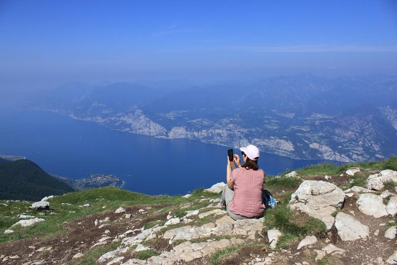 107 - op de top van de Monte Baldo bij het Gardameer
