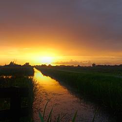 Zonsondergang omgeving Naardermeer