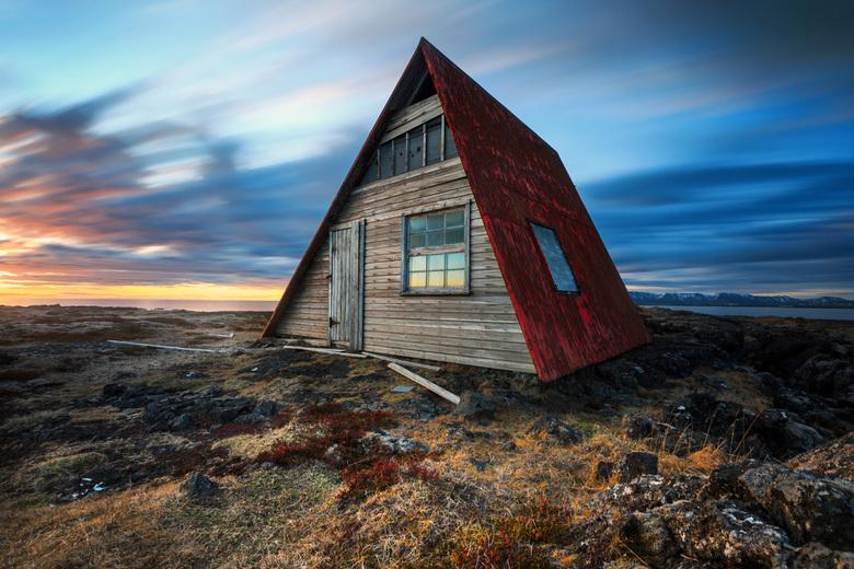 Verlaten - verlaten huis op Reykjanesbaer