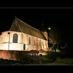 Oude kerk in de nacht