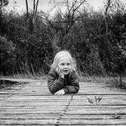 Op de loopbrug