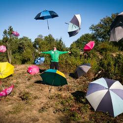 Het regent paraplu's