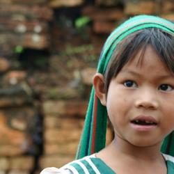 Meisje uit Myanmar