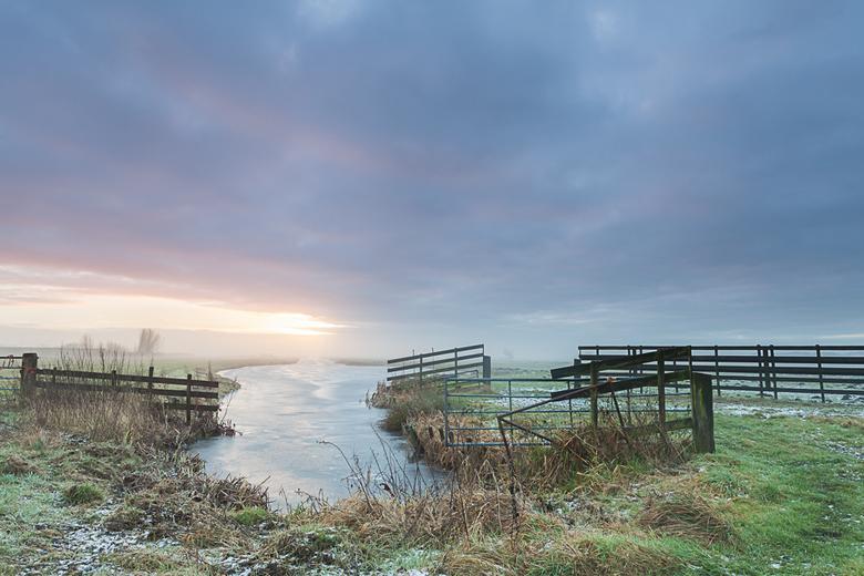 De krimpenerwaard 69 - Een winter ochtend in de polder.
