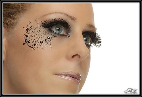 Extreme visagie! - Super gave make-up foto, al zeg ik het zelf! Ik heb deze gemaakt toen model Yvette bij Fotograaf Richard Meijer en visagist (of moe