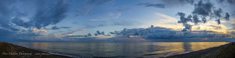 Strand Belek Turkije - Panorama foto bestaande uit 9 foto's