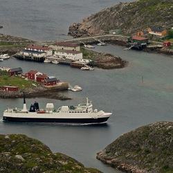 De ferry van Svolvaer naar Skrova..