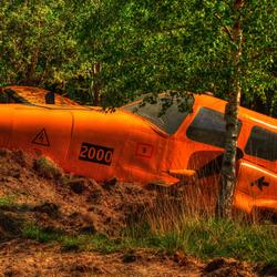 Crash landing.