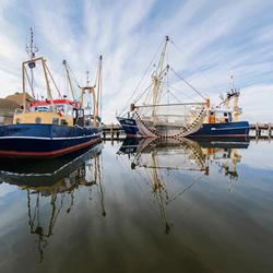 Visserboten in de haven van Stavoren