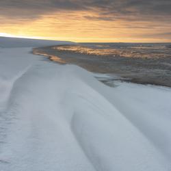 Sneeuwduinen aan het Wad