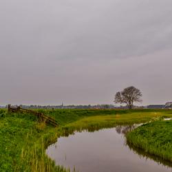 Uitzicht op Hensbroek vanaf Kwakelpad