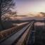 Zonsopkomst aan de Moerputtenbrug