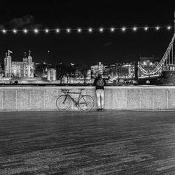 Pauzerende fietser