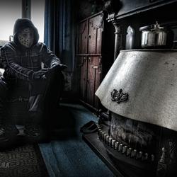 Mezelf in leegstaand huis Manoir la chapelle