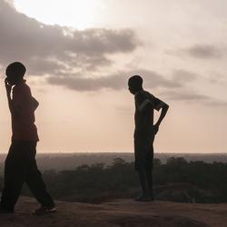 Op een zomerse avond in Afrika