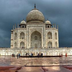 Rainy Taj Mahal