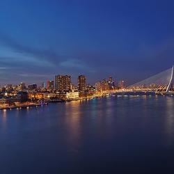 Panorama complete skyline van rotterdam