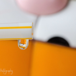Garfield in a droplet