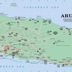 Map aruba