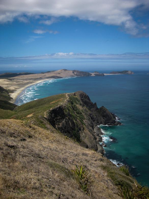 Cape Reinga, Nieuw Zeeland - Cape Reinga ook wel Cape Maria van Diemen genoemd.<br /> Gelegen in het Noorden van het Noord-eiland van Nieuw-Zeeland.