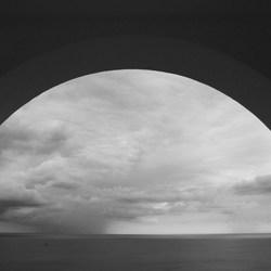 Regen op zee
