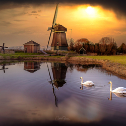 A winter evening in the Netherlands