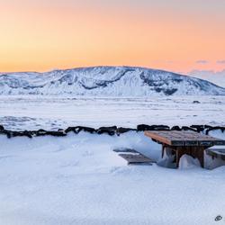 Winters landschap IJsland