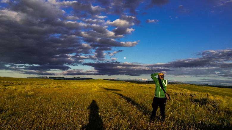 catching the fotoGuy - and catching myself  - gemaakt bij het slagveld Little Big Horn (USA)