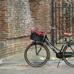 Drie paar schoenen en één fiets