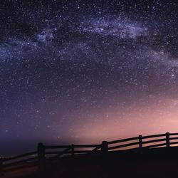 Melkweg boven Wierum