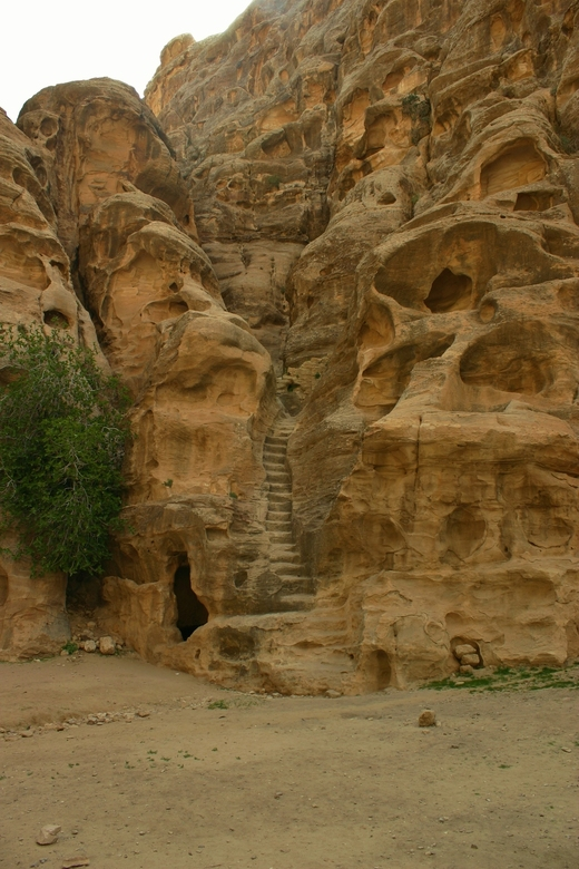 Stairway to heaven - Petra, Jordanië.
