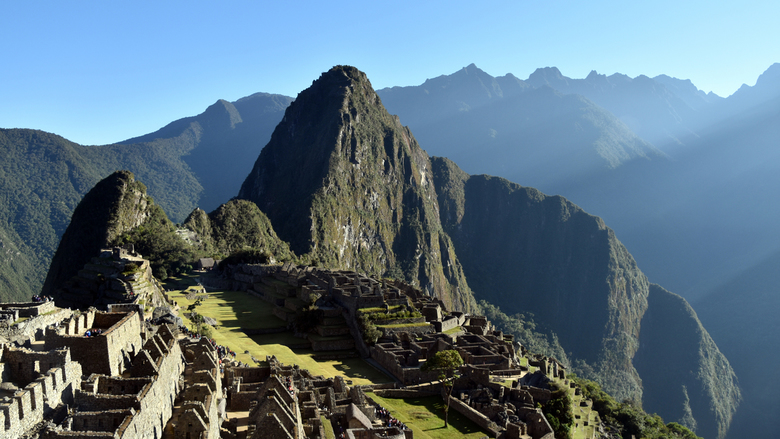 Machu Picchu net na zonsopkomst