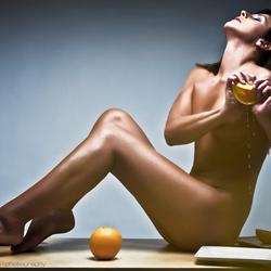 Squeeze the orange...