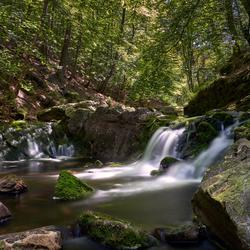 1 van de vele watervallen van de rivier de Hoëgne