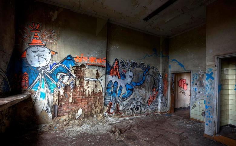 Graffiti - HDR - Sinteranlage Metal Refinery Germany.