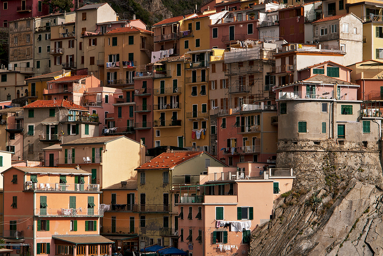 Wie heeft het beste uitzicht? - Stadje in Cinque Terre Italië
