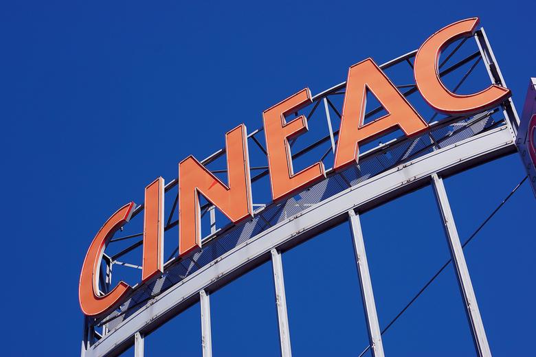 Op het dak van een bioscoop -