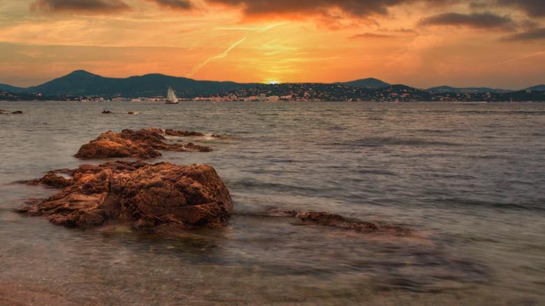 Zonsondergang in St. Tropez  -