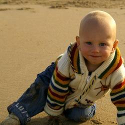 Portret van een strandliefhebber