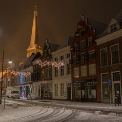 Stadsgezicht Zutphen met sneeuw