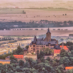 kasteel Wernigerode vanaf Kaisersturm